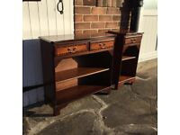 Vintage dark wood sideboard with drawers. Good condition.