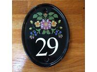 No 29 door plaque