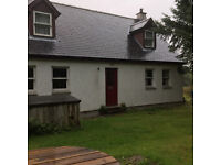 Three bedroom detached house, ten miles south of Ullapool.