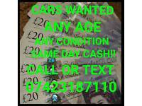 CARS AND VANS BROUGHT FOR CASH