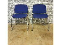 2x Chrome Frame Office Chairs