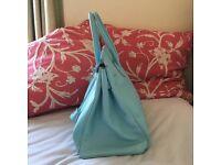 Genuine Italian Leather - Birkin Style Handbag