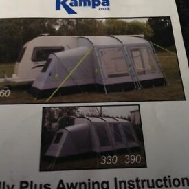 KAMPA RALLY PLUS 260 AWNING WITH ANNEXE.