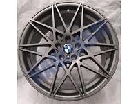 B37* 4X NEW ALLOY WHEELS 20 INCH ALLOYS GREY FITS BMW M3 & M4 GTS CS COMPETITION 6 666M