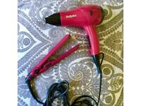 Hair dryer & Hair straightener