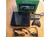 Xbox one console with one controller and head set