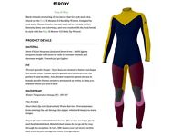 *limited Edition* ROXY K Meadow 3/2mm Back Zip Wetsuit size 8 Used