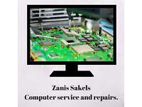 Zanis Sakiels -Computer service and repairs.