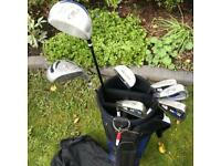 Left handed Golf Clubs. Left handed set with bag and accessories.