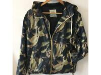 PULL AND BEAR WINDBREAKER jacket raincoat SIZE M Camo camouflage