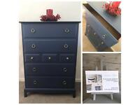 Stunning Stag Minstrel Tall Boy Chest Of Drawers
