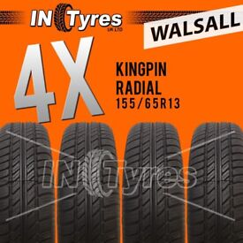 4x 155/65R13 Kingpin Tyres Fitting Available Four 155 65 13 Tyres x4 Walsall