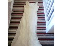 White evening dress size 16
