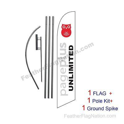 Pageplus Wireless Feather Banner Swooper Flag Kit With Polespike