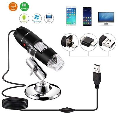 Microscopio USB digital Microscopio electronico 1600X 2MP USB 8 LED cam