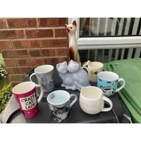 Mugs cat theme