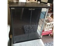 Display cabinet freestanding or wall unit