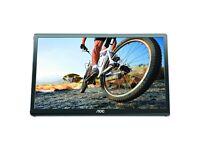 Portable Monitor: AOC E1649FWU 16-Inch 1366 x 768 16 ms LED LCD Monitor + Case
