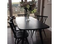 Ercol table and 4 matching chairs