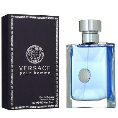 VERSACE POUR HOMME for Men 3.4 oz cologne 3.3 EDT Spray *NEW SEALED PERFUME
