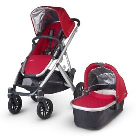 2015 Uppababy Vista Buggy with Rumble Seat (Inc Carry-cot, Seat, Footmuff, Maxi-cosi adapters etc)