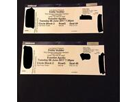 Eddie vedder X2 tickets