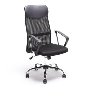 NEW OFFICE CHAIR MESH HIGH BACK BLACK ERGONOMIC EXECUTIVE COMPUTER CHAIR OFFICE