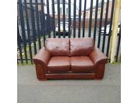 2 seater sofa in a dear grade if brown leather Hyde ( small mark see pic)