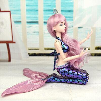 Handmade 1/3 Doll Mermaid Princess Tail Costume for BJD Clothing Cosplay