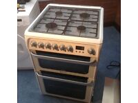 Hotpoint Ultima gas cooker excellent condition stay clean ovens with gas fittings