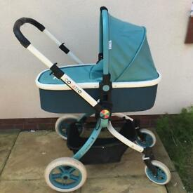 Cosatto Ooba Pram and Travel System in Duck Egg Blue