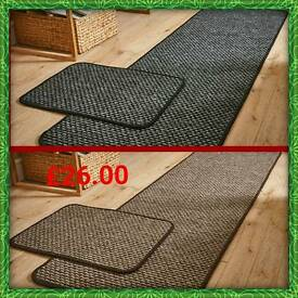 Poise Mat & 57X 180Cm Runner Anthracite