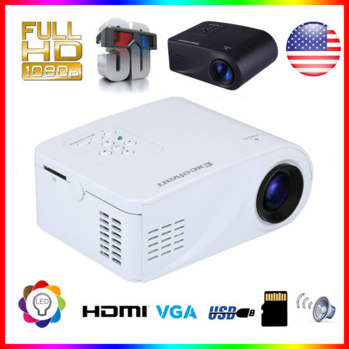 mini portable hd 1080p 3d home... Image 1