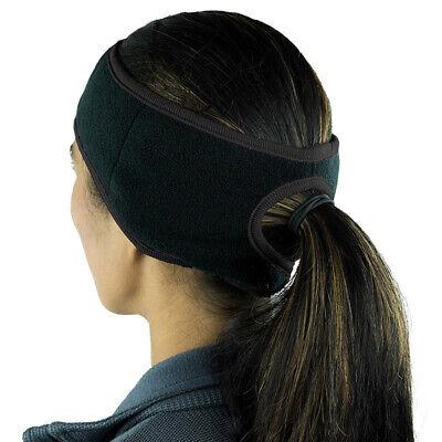 Comfortable Fleece Ponytail Ear Warmer Headband Running Sport Head Sweatband Fleece Ear Warmer
