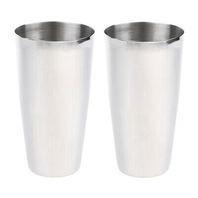 2stainless Steel Milkshake Malt Drink Mixer Mixing Cup Commercial Grade