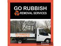 Go rubbish and removals / junk & waste collection no skip required/ house, office, bin clearance