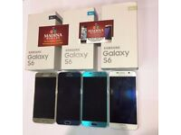 SAMSUNG GALAXY S6 128GB UNLOCKED MINT CONDITION LIKE NEW BOXED COMES WITH WARRANTY & SHOP RECEIPT