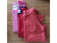 Girls' Mini Boden age 9-10 long sleeved tops.