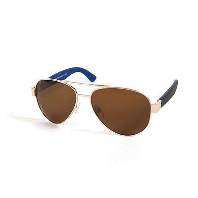 New Versace 19v69 Classic Aviator Sunglasses V115S C5 58-17 1969 - Gold / Brown