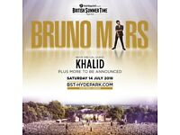 BRITISH SUMMER TIME FESTIVAL 14TH JULY BRUNO MARS - GOLD CIRCLE