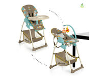 NEW IN BOX HAUCK SIT N RELAX 2 IN 1 HIGHCHAIR LOW CHAIR WITH BOUNCER SEAT RECLINES WITH MOBILE