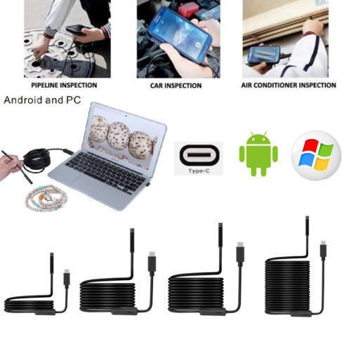 1M-10M 6/8LED 5.5-8mm PC Android USB+TYPE-C Endoscope Inspection Camera HD