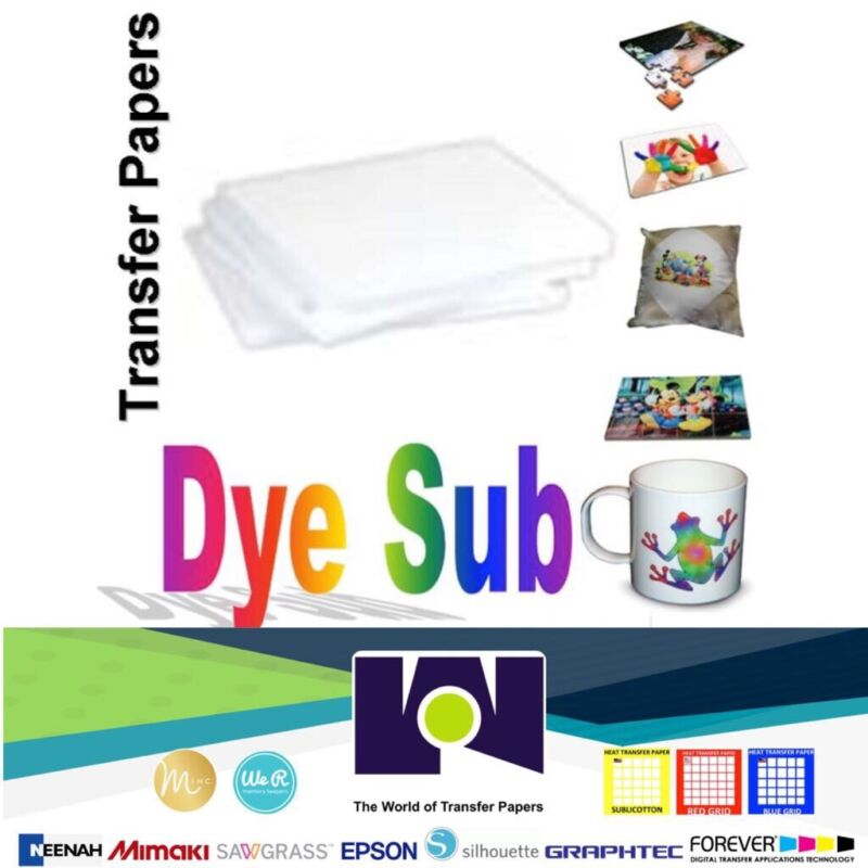 """100 Sheets Dye Sublimation Heat Transfer Paper 8.5""""x11"""" Free Delivery Made In US"""