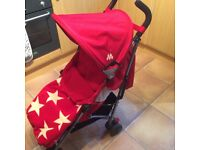 Used for one holiday! Maclaren quest sport stroller Buggy pushchair in scarlet and wheat
