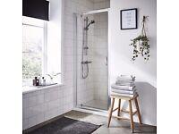 1000mm Pivot Shower Door Hinged Reversible Bathroom Outward Opening