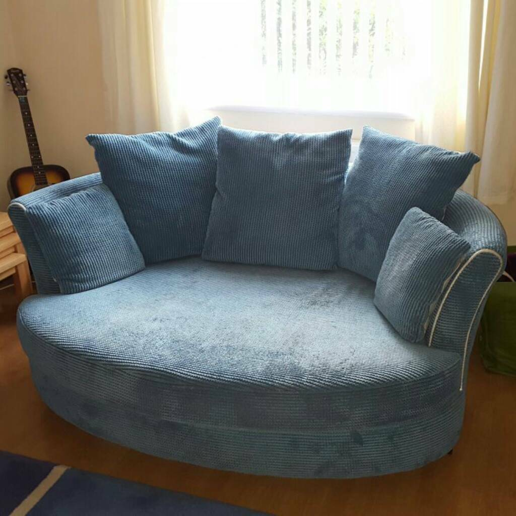 Dfs 2 Seater Teal Cuddler Couch Sofa In Oldham