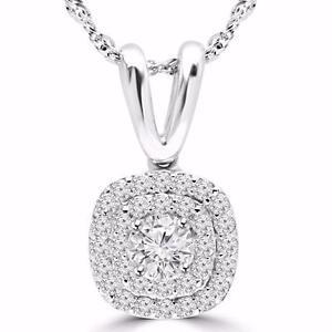 PENDENTIF EN DIAMANTS AVEC CHAÎNE EN OR 14K  .60 CARAT TOTAL / 14K GOLD NECKLACE WITH DIAMONDS .60 CTW