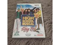 High School Musical Sing It! Wii game.