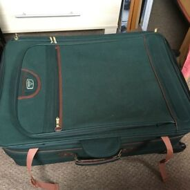 Antler suitcase, large green canvas,