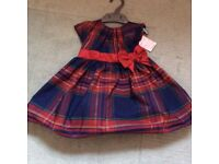 9-12 months BRAND NEW Mothercare Christmas dress